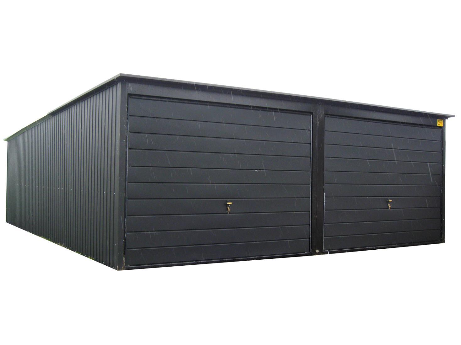 Garaż Blaszany Podwójny 5x5 Duży Kolory Ral Montaż 7321308789