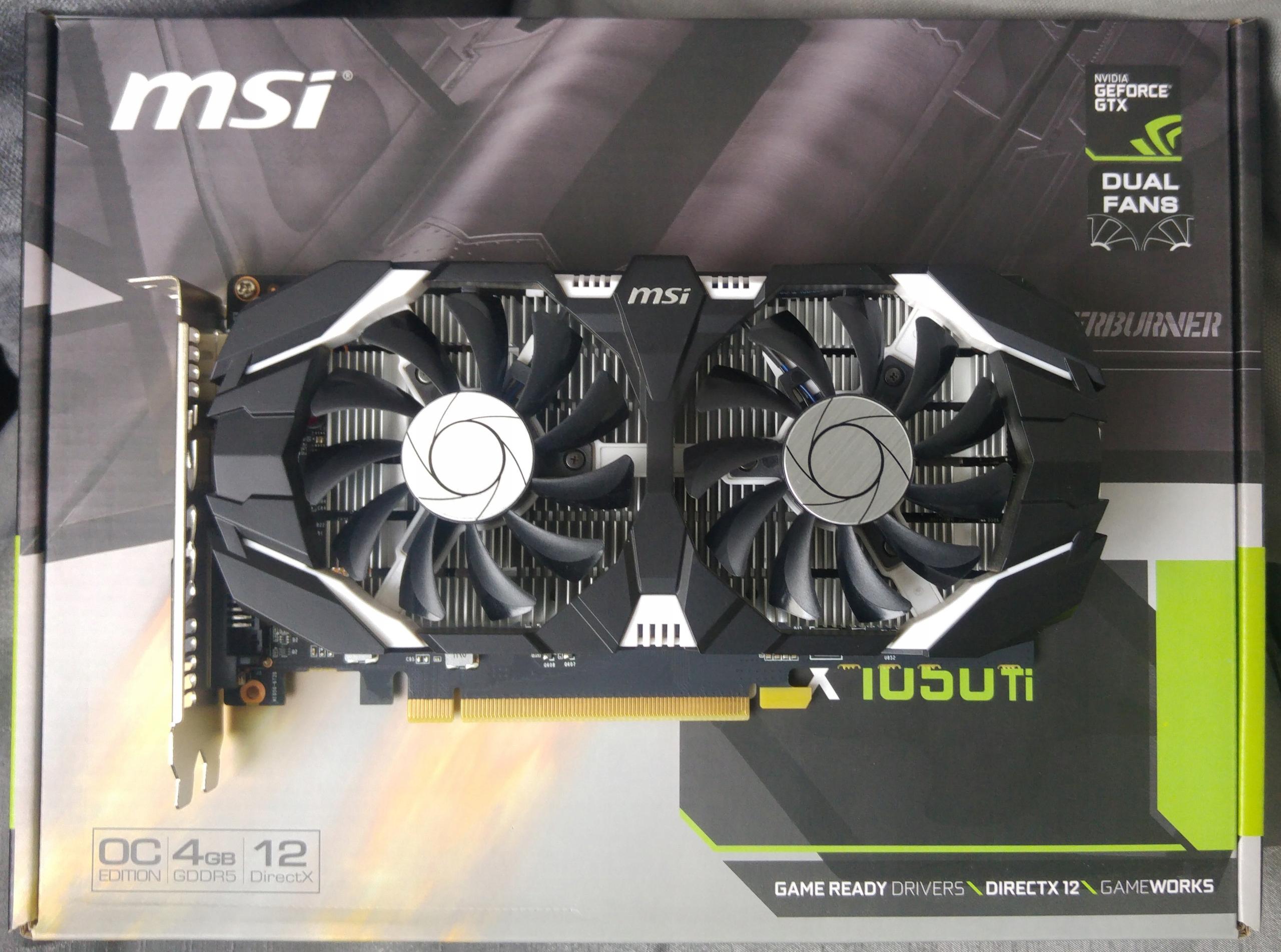 Msi Geforce Gtx1050ti 4gb Dual Oc Ddr5 Fv23 Gw 7486528333 Gtx 1050 Ti