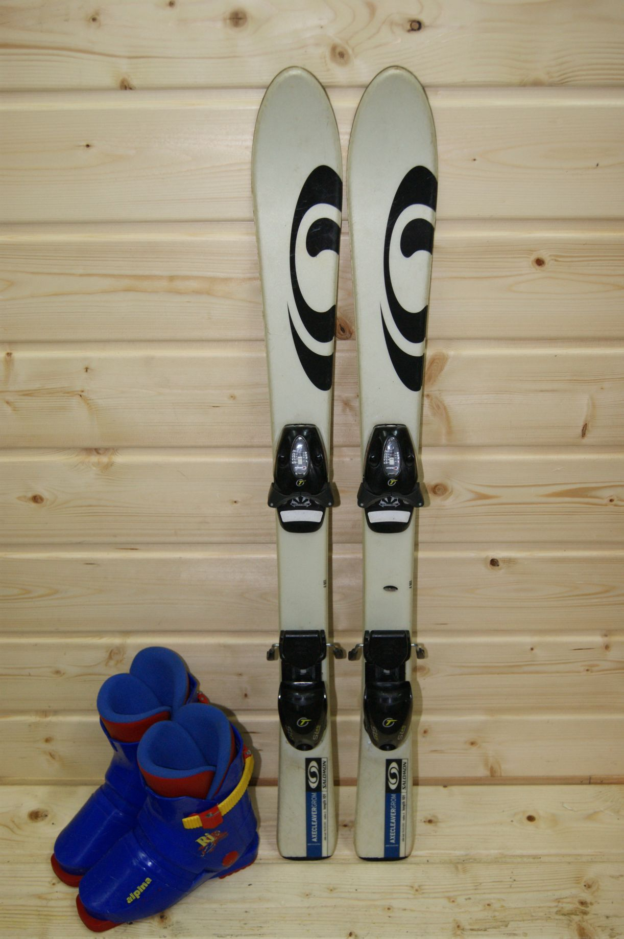 erstklassiges echtes viele Stile Beste ZESTAW narty Salomon 101 cm + buty Alpina 20,5 - 7198004924 ...