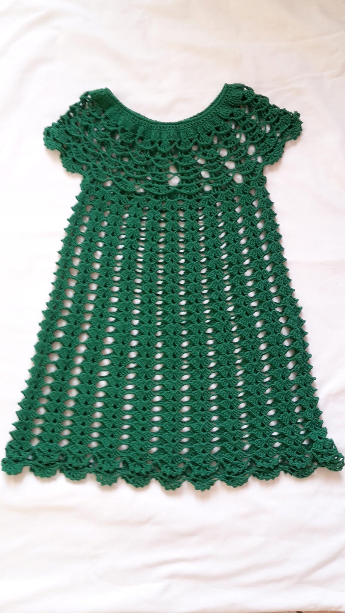 70218da9ff Piękna szydełkowa sukienka dla dziewczynki. - 7630341339 - oficjalne ...