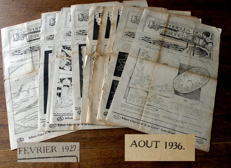 Wzory haftu-10biuletynów z 1927/36r