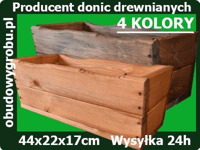 Donice Doniczki Skrzynki Balkonowe 54 Drewniane 7210064559