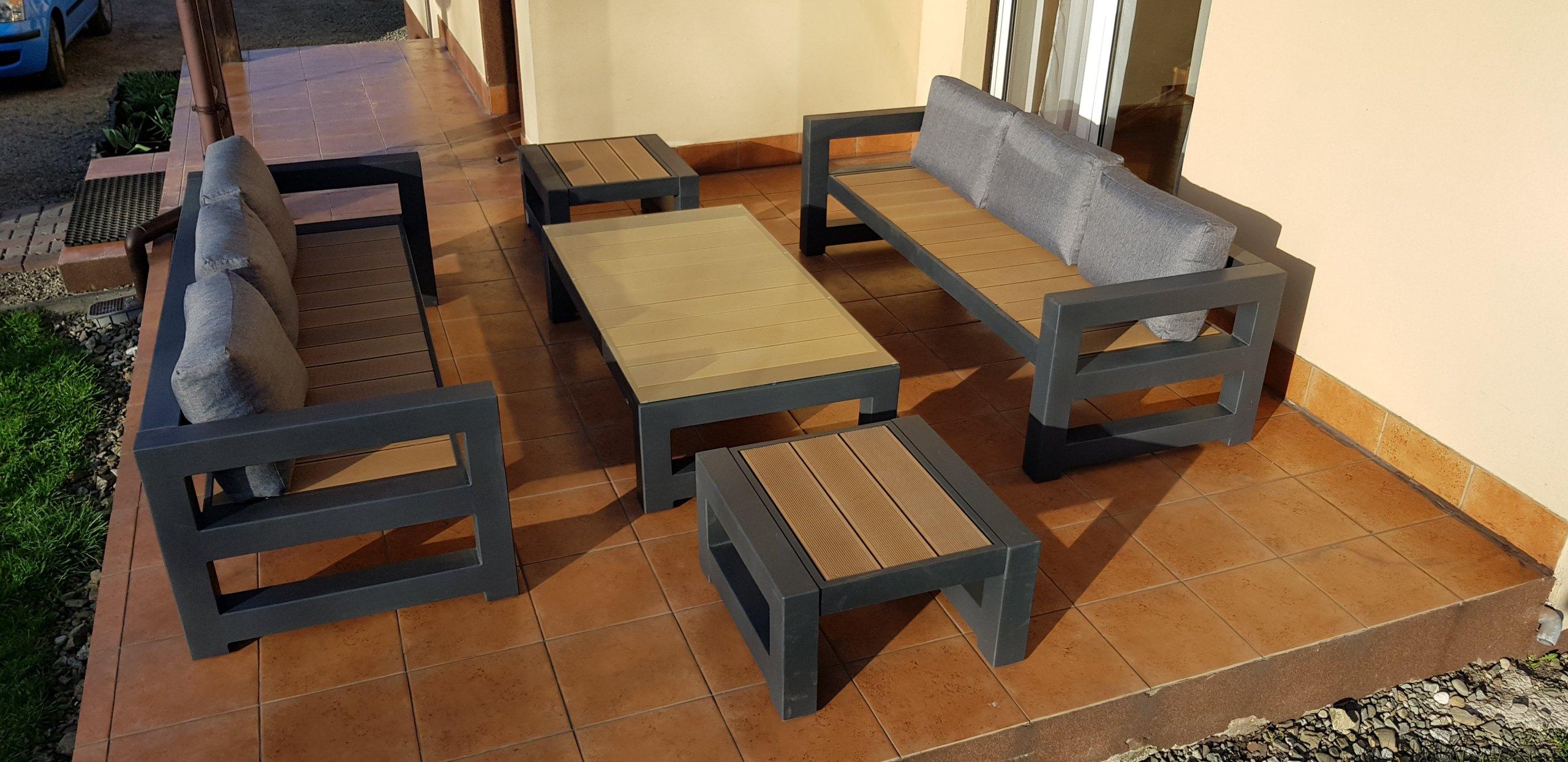 Modernistyczne Nowoczesne meble ogrodowe (tarasowe) UNIKAT! - 7296068647 FK63
