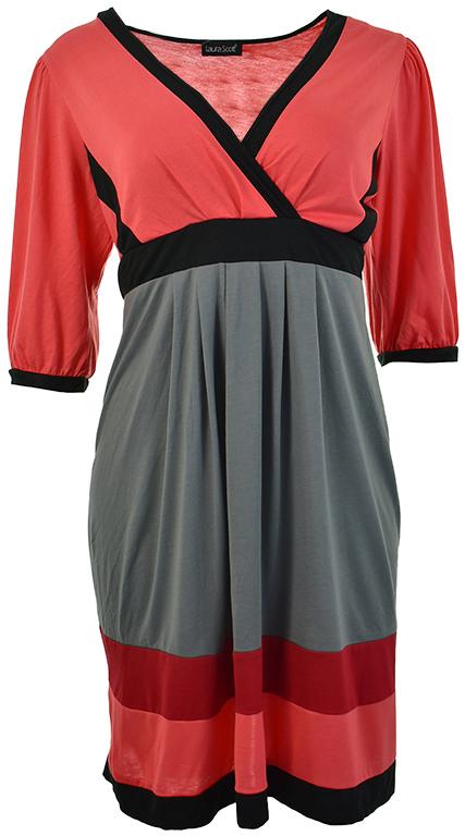 d9aea2d58e kU9536 NOWA LAURA SCOTT sukienka z paskiem 44 46 - 7735676425 ...