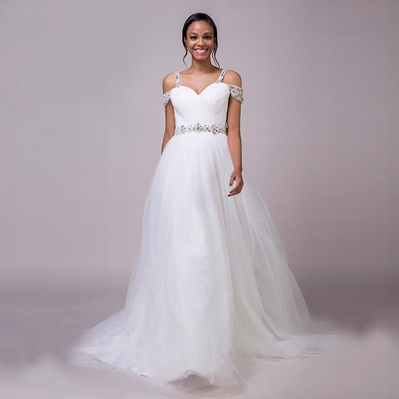 Piękna Unikatowa Suknia ślubna Z Tiulu Nowa 7311697372