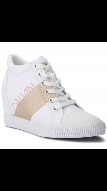 8376e4951accb Calvin Klein Roxanna sneakersy white  gold 39 nowe - 7661197183 ...