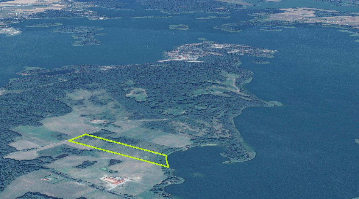 Działka rekreacyjna 2,96ha nad jeziorem Narie