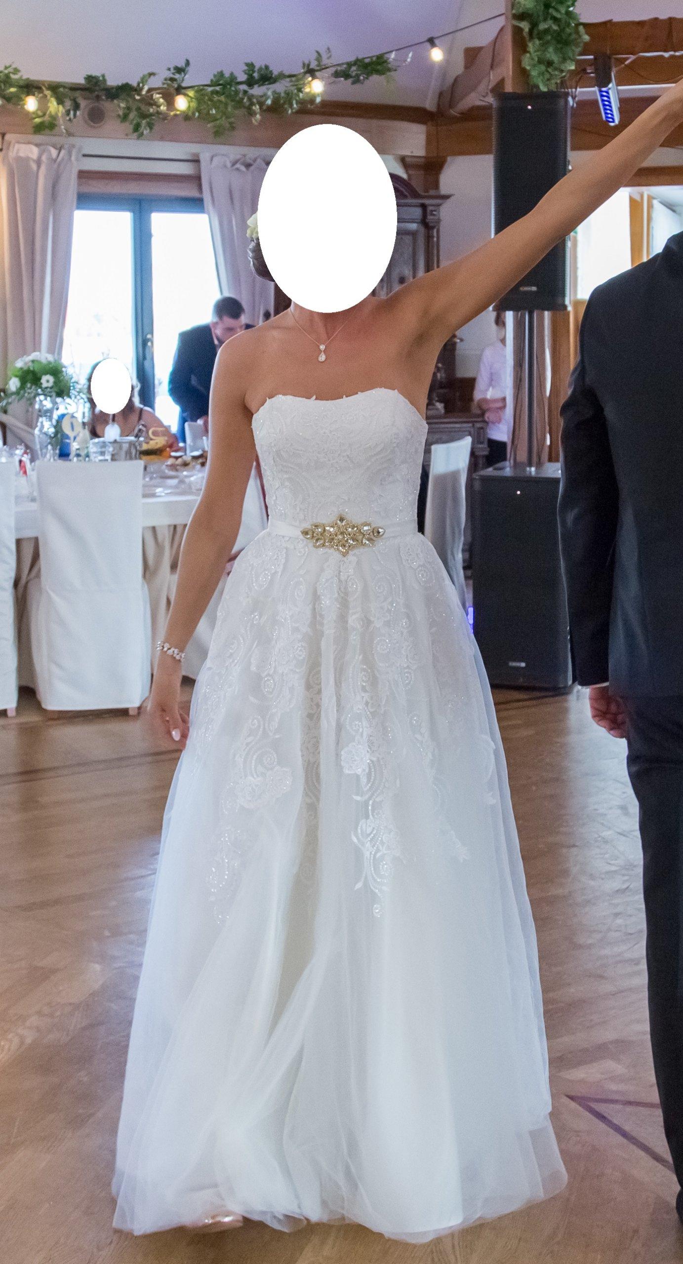 Suknia ślubna Z Usa Hiszpańska Koronka Styl Boho 7349337910