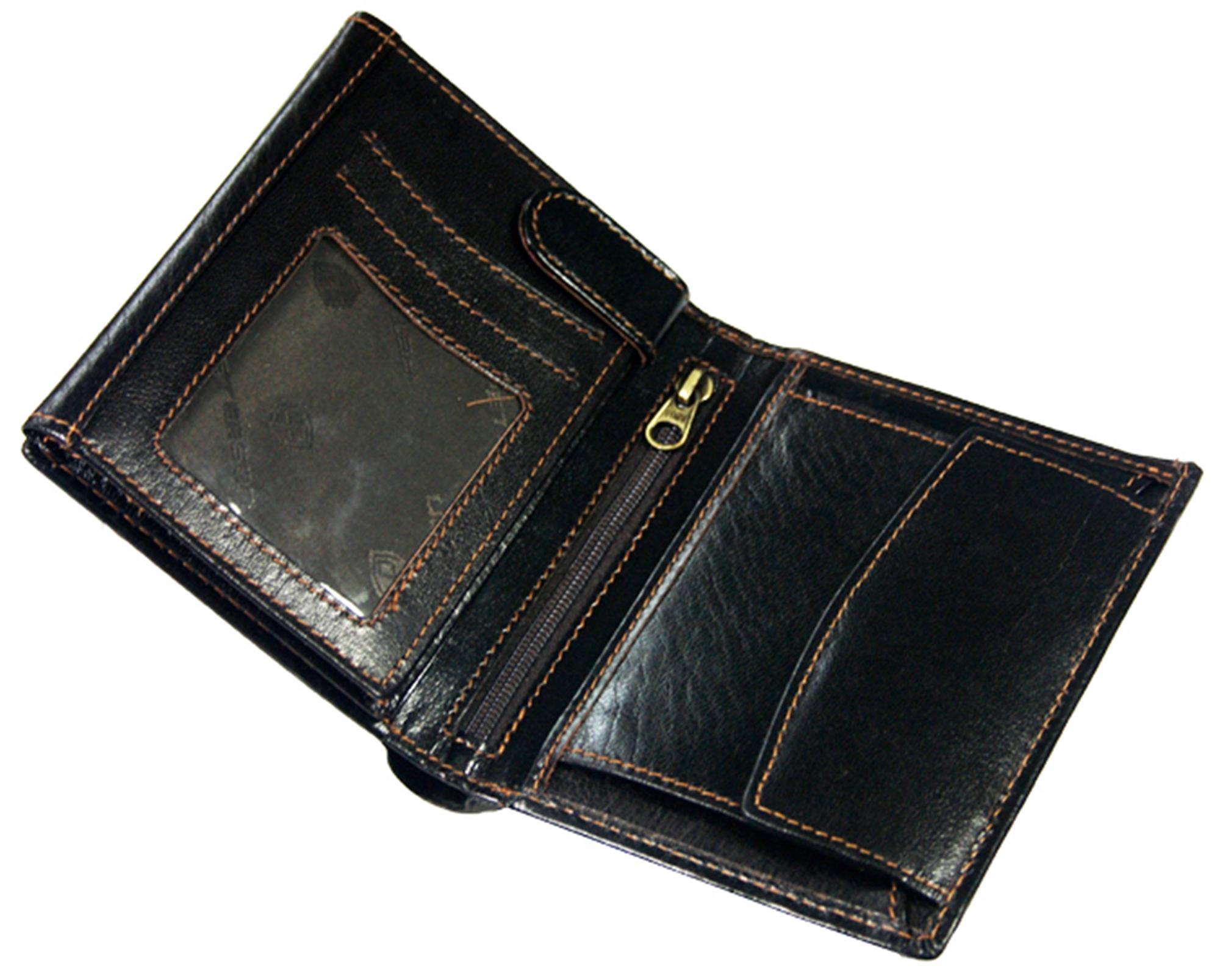 8c1b98e46abebd Pionowy brązowy skórzany portfel męski Peterson - 6299582982 ...