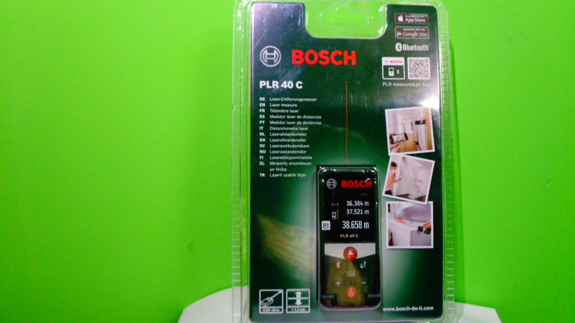 Bosch Entfernungsmesser Plr 40 C : Bosch dalmierz laserowy plr c miara bluetooth
