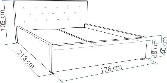 łóżko Małżeńskie 160x200 Tapicerowane Bird Galax