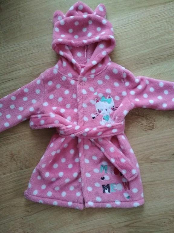 839e2c446b8b2f szlafrok dla dziecka 9-12 m. rozowy kotek kot - 7500298320 ...