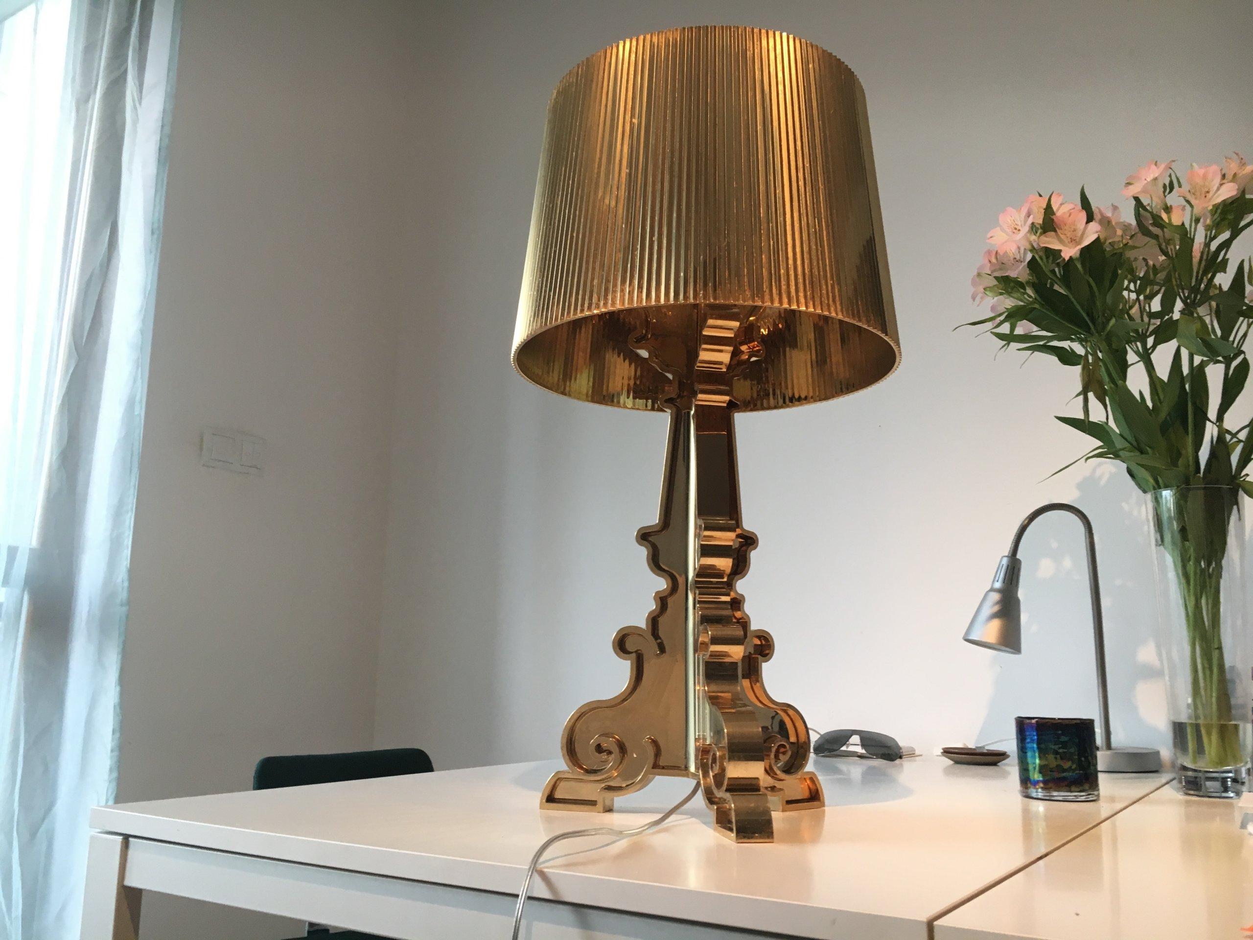 Lampa Kartell Bourgie Gold Złota 7385908190 Oficjalne Archiwum