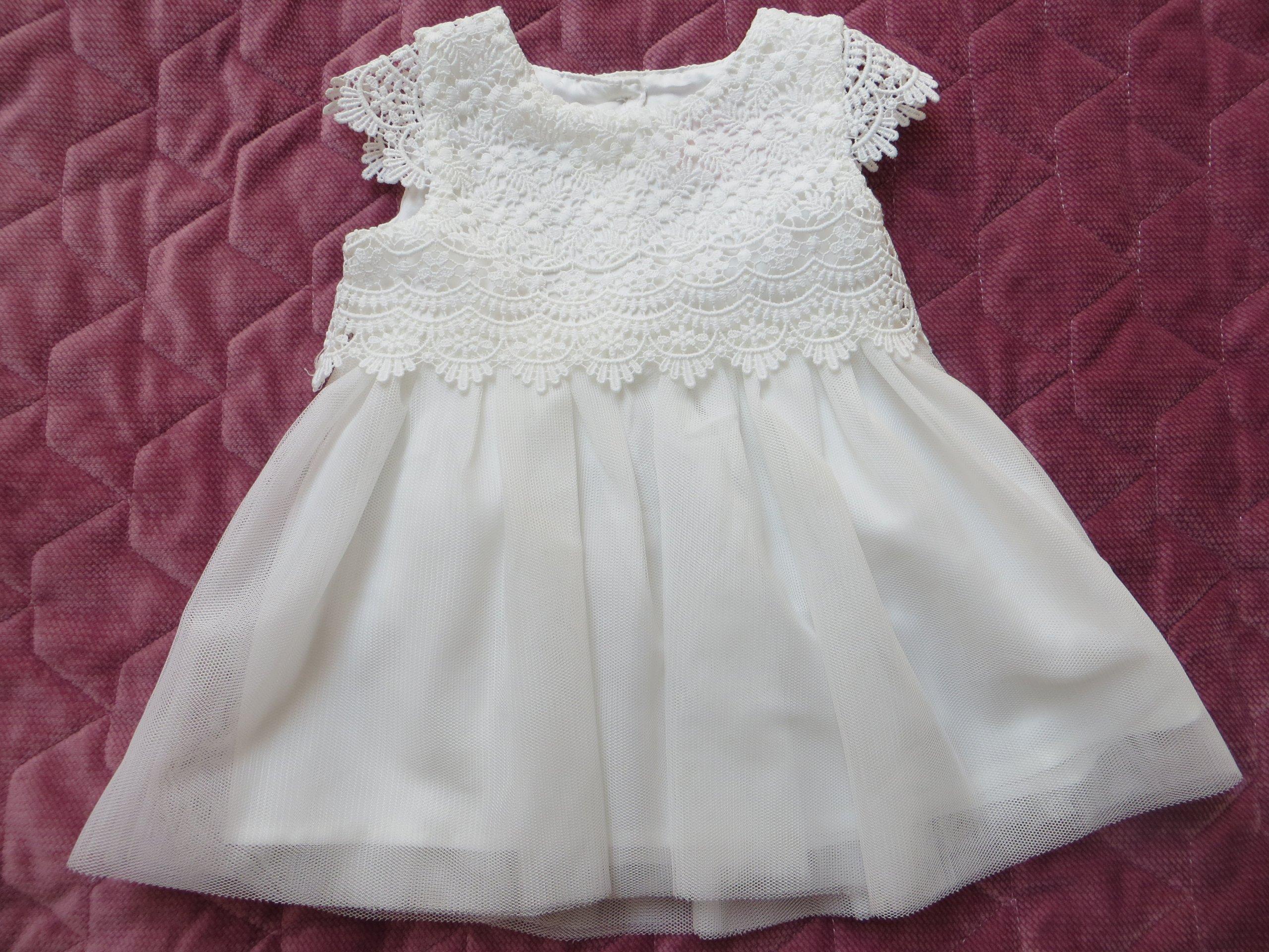 0d60b642ba Sukienka biała rozmiar 0-3 miesięcy 62 cm - 7400727799 - oficjalne ...