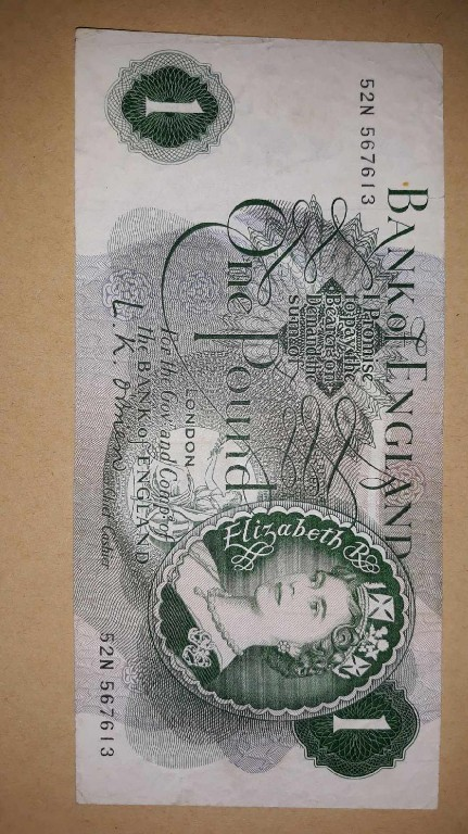 Banknot 1 funt. Unikat!