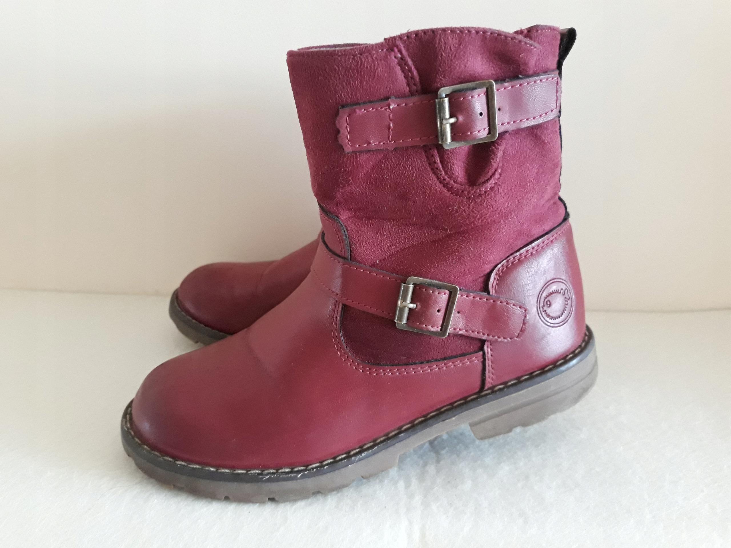 3bed0108 Kozaczki buty zimowe kozaki botki dziewczęce r. 30 - 7621509337 ...