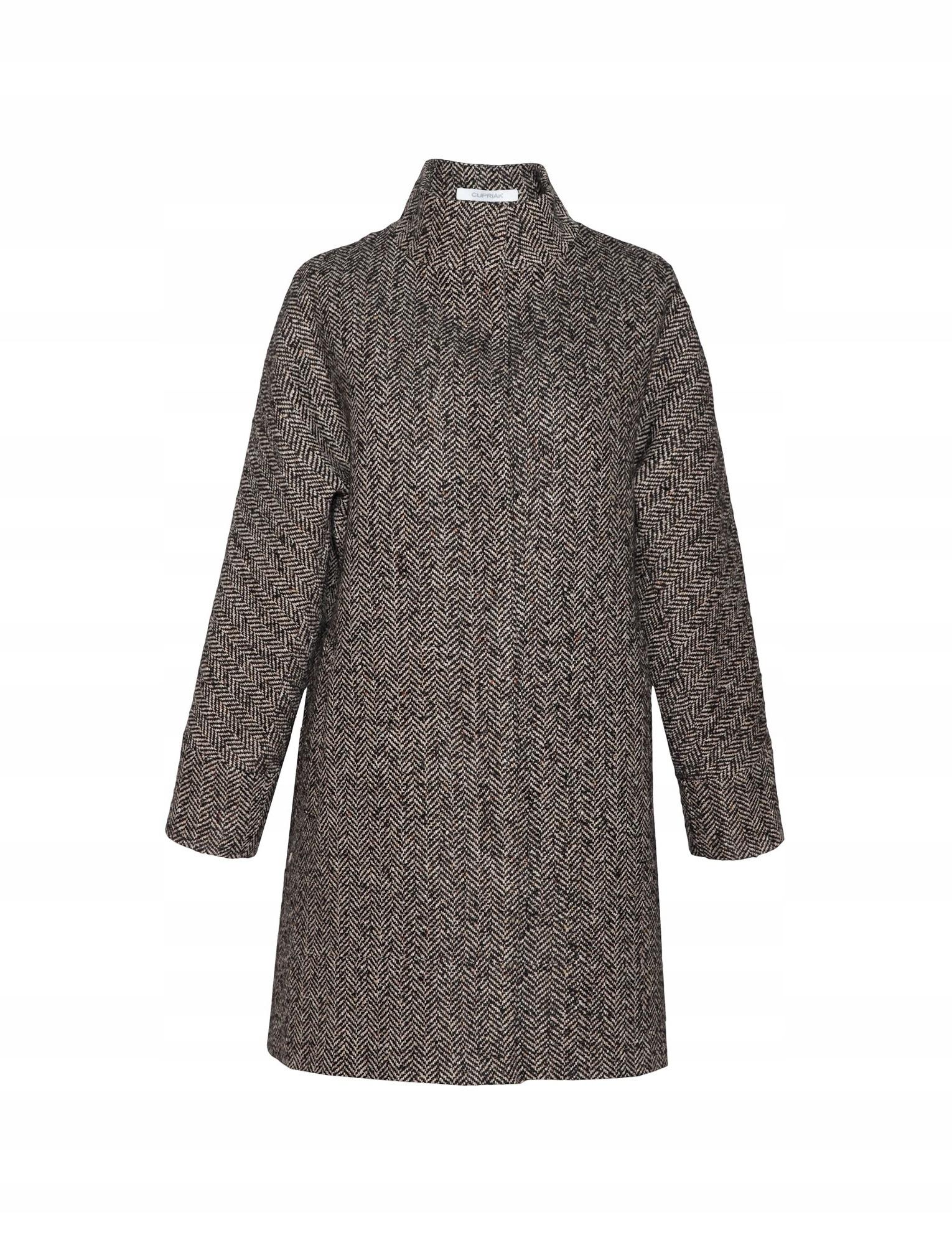 42ca20212f370 Płaszcz Beata Cupriak, - 40% ceny, m. trendi, r. M - 7617889854 ...