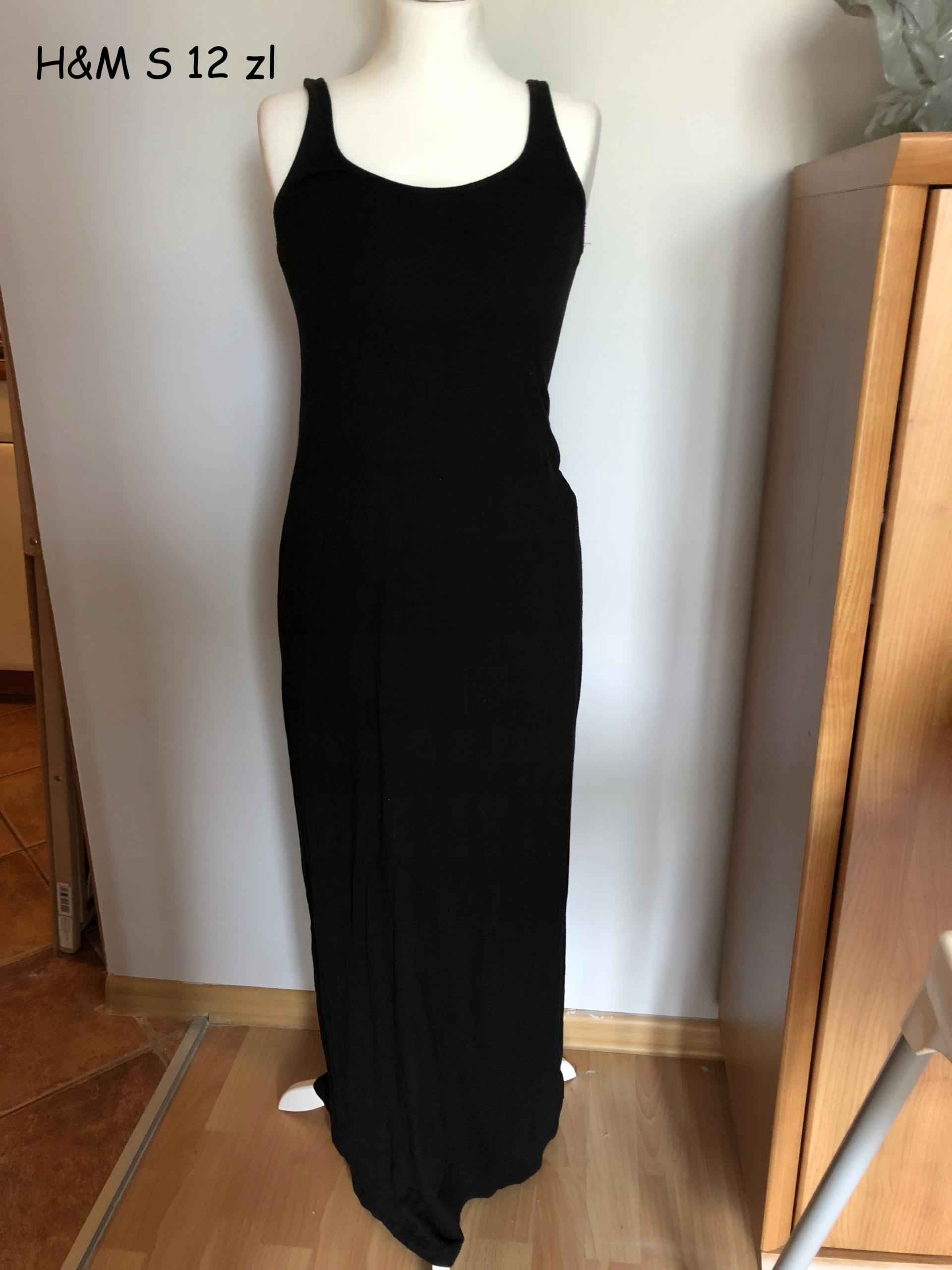8e83f64d87 H M sukienka czarna maxi długa rozmiar S - 7477930479 - oficjalne ...