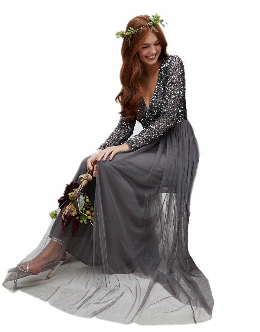 421850ba06 ... CEKINOWA GÓRA XL 42. MAYA sukienka MAXI cekinowy top TIULOWA XS 34