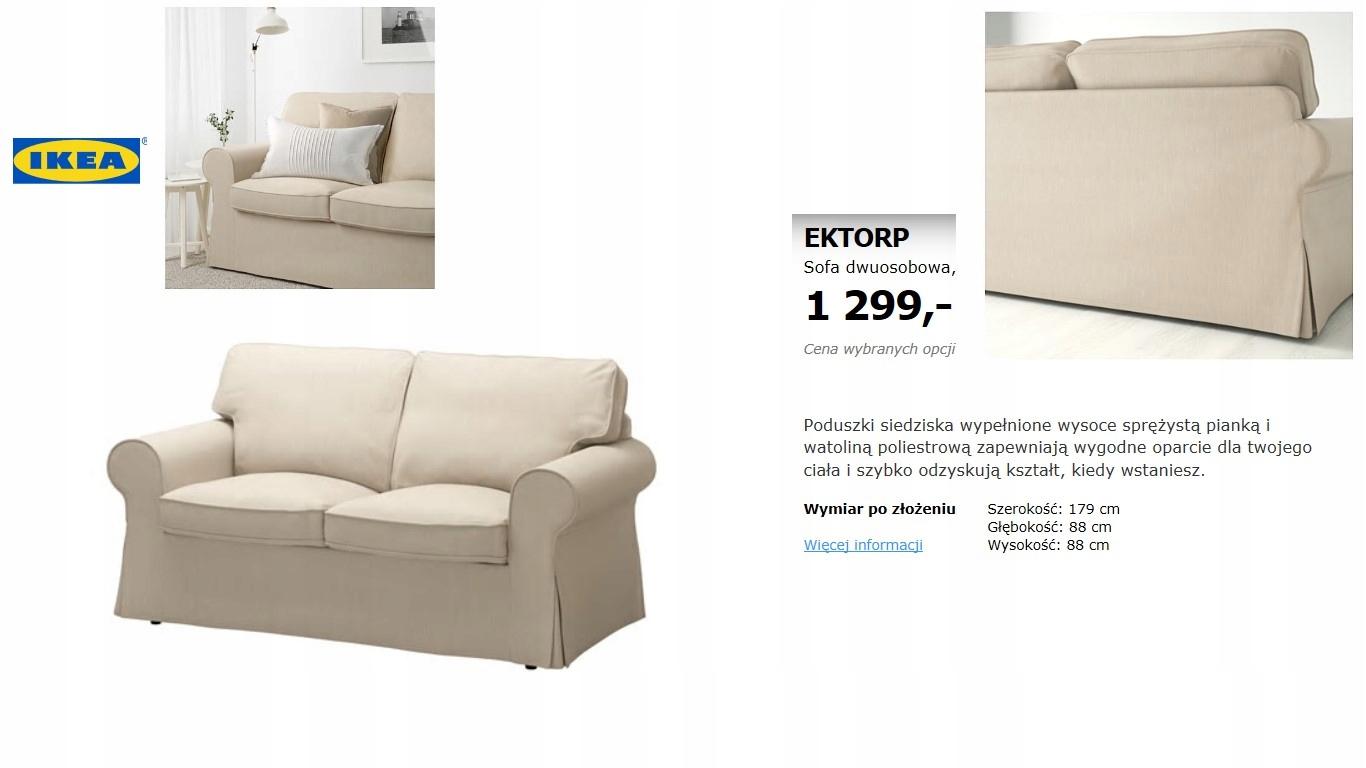Ikea Ektorp Sofa Dwuosobowa Jnowa 7756901042 Oficjalne