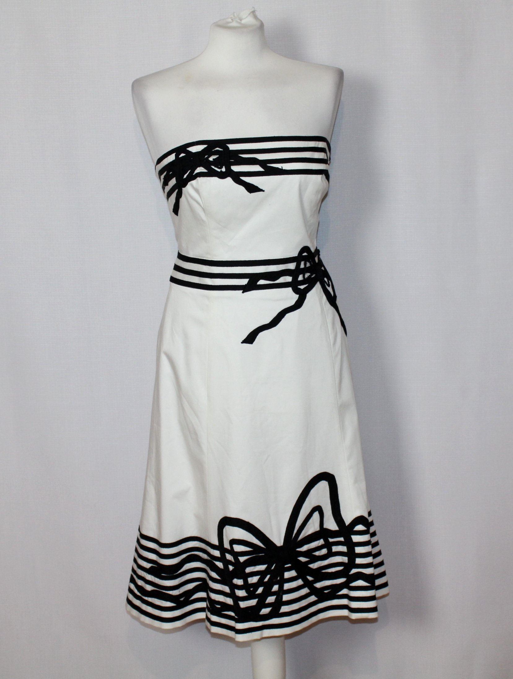 3e129e68fe Biała sukienka bawelniana wzory COAST 38 M 10 - 7216188911 ...