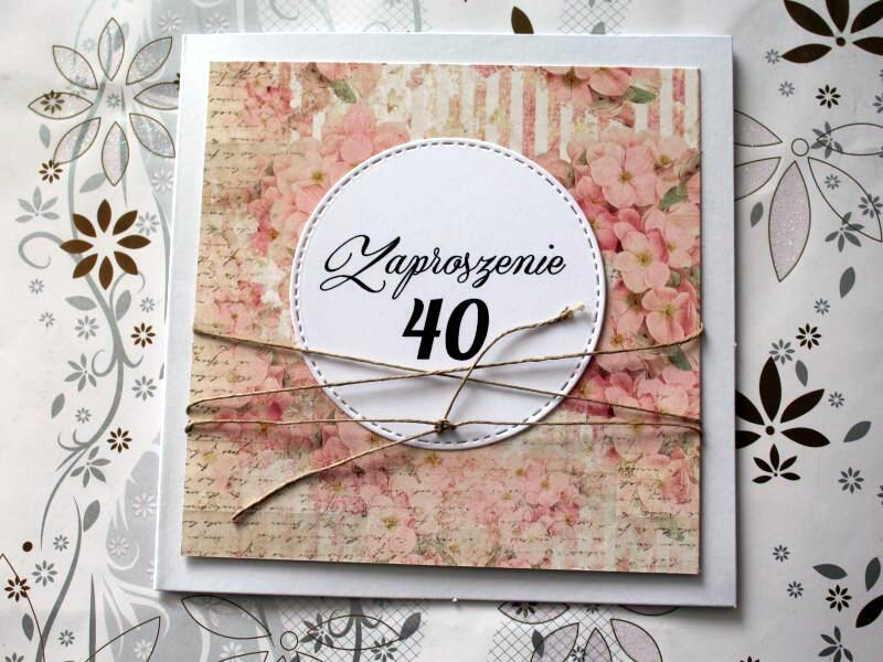 Zaproszenie Na Urodziny Ręcznie Robione Kobiece 7257113961