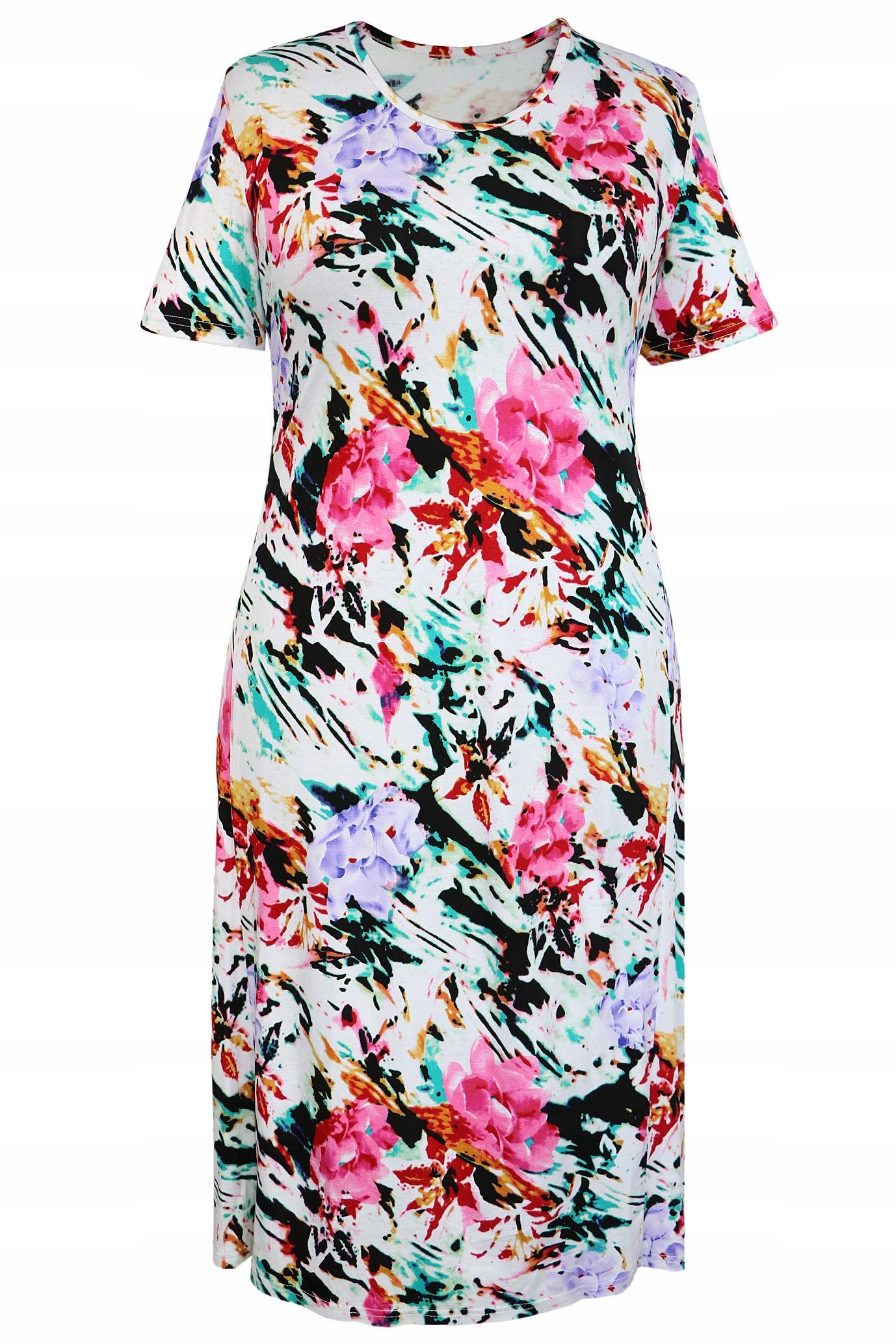 eb21bbc500 sukienka BABABABIE kolorowa wygodna wiskoza 58 -% - 7543698218 ...
