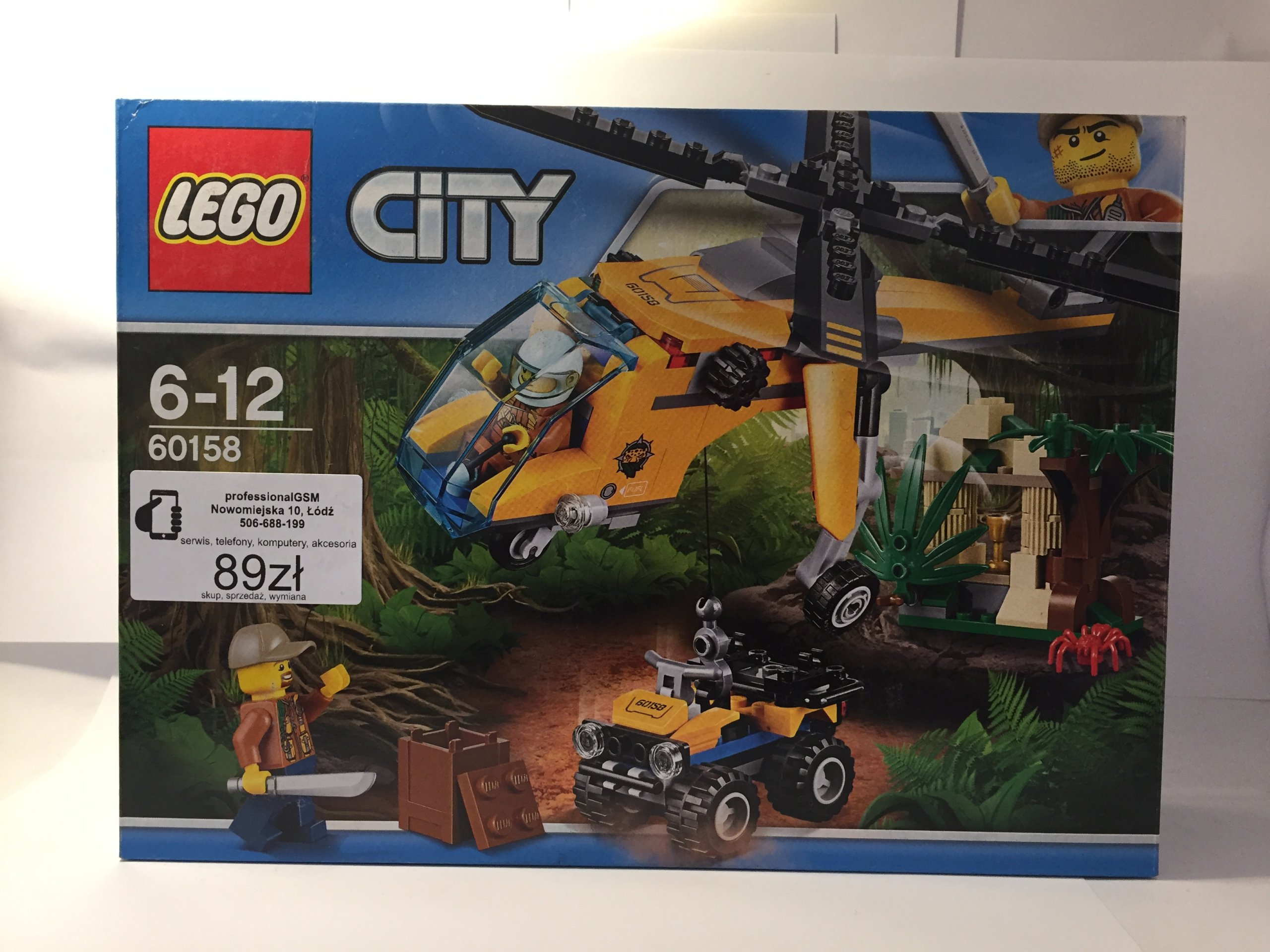 Lego City Jungle Explorers Helikopter 60158 7285777648 Oficjalne