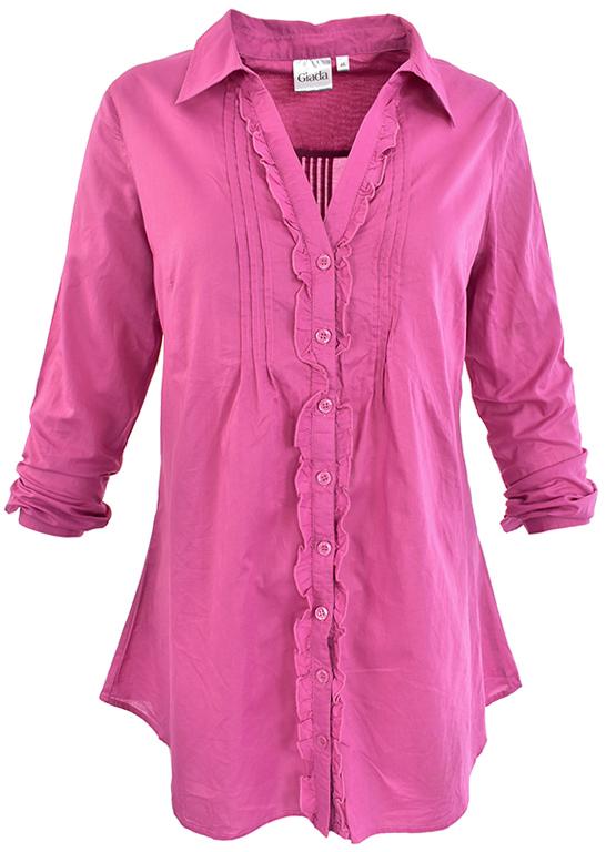 8b1b95f68c1a1d gX3894 GIADA różowa koszula/tunika roll up 46 - 7285344365 ...