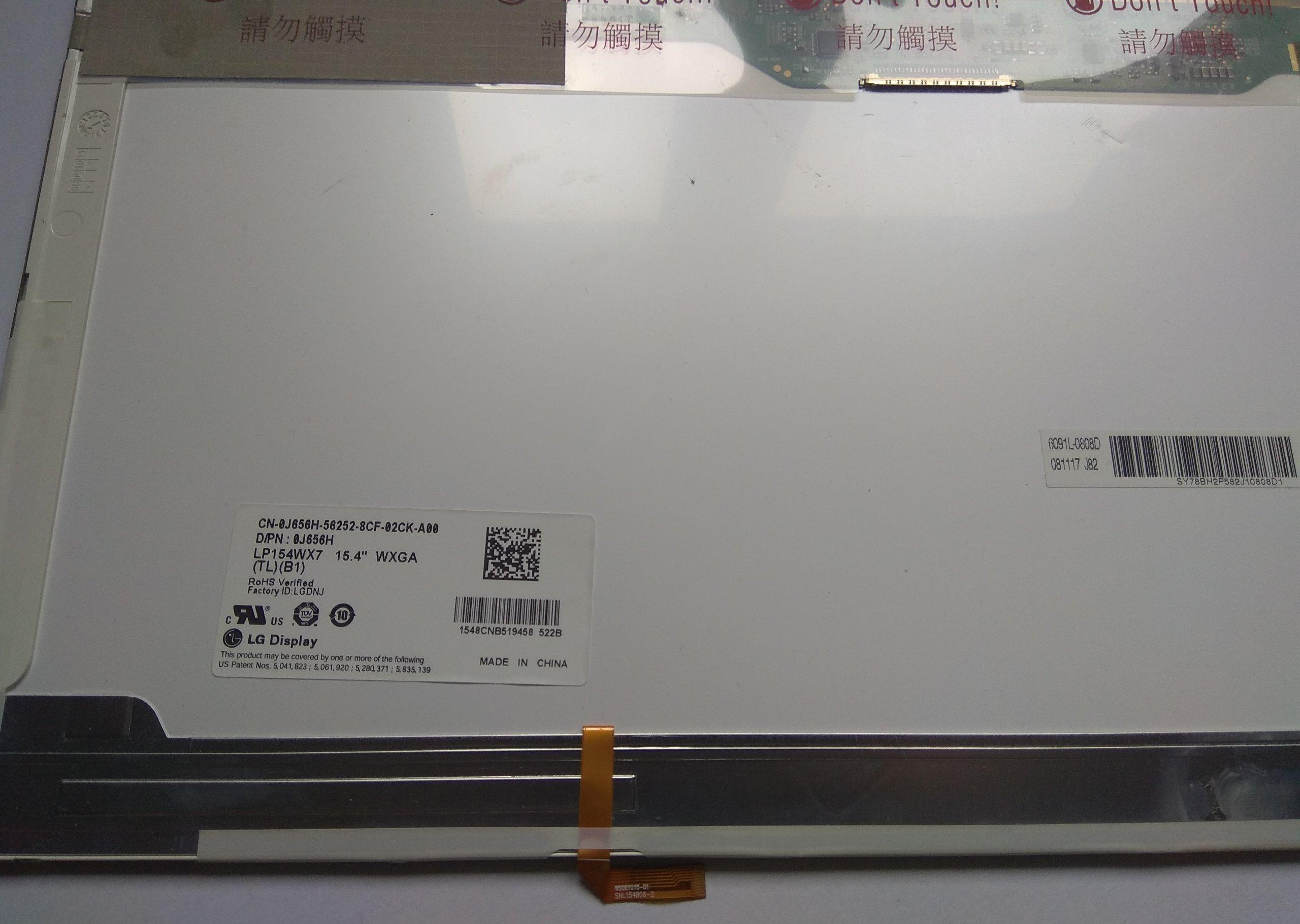 LP154WX7 LTN154AT12 N156L6-L02 B154EW09 12pin FV23