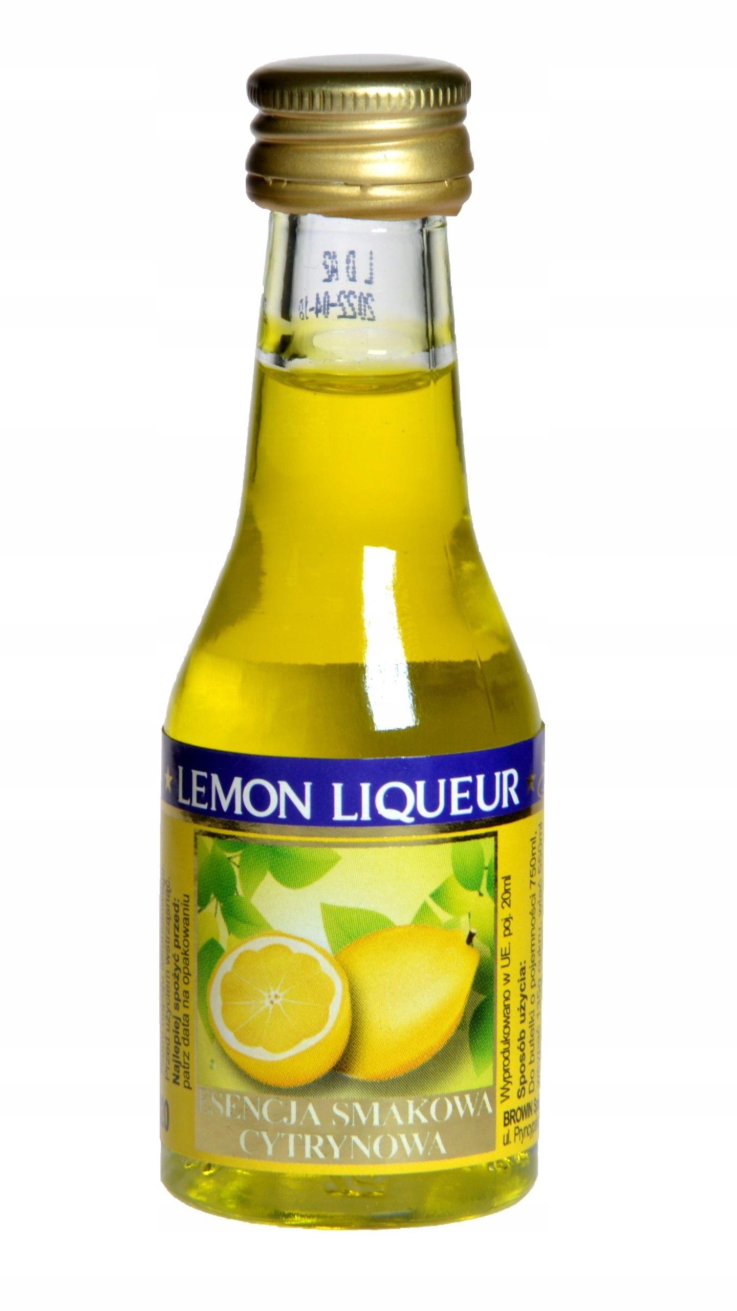 Zaprawka do alkoholu BROWIN LIKIER CYTRYNOWY 20ml