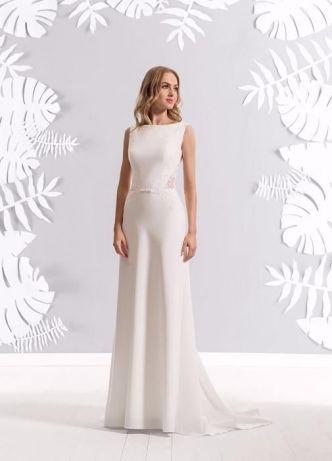 Suknia ślubna Z Trenem Elizabeth Passion Koronka 7131628429