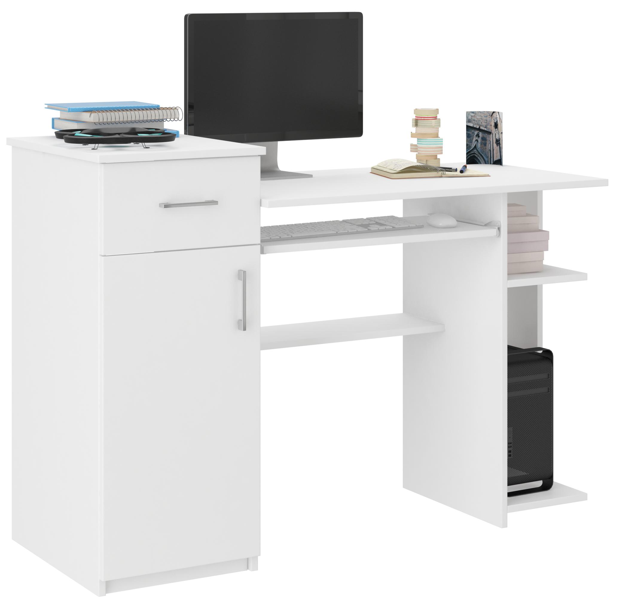 Biurko Komputerowe 76cm Stolik Laptop Białe N 8 Pl