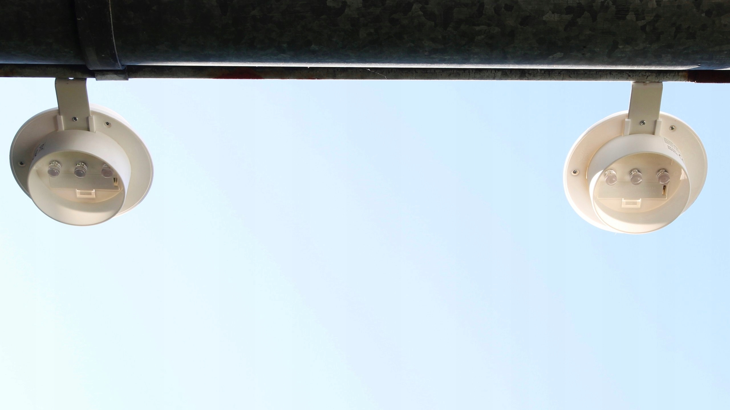 2 Lampy Solarne Kinkiet Balkon Ogród Poręcz 7338924190