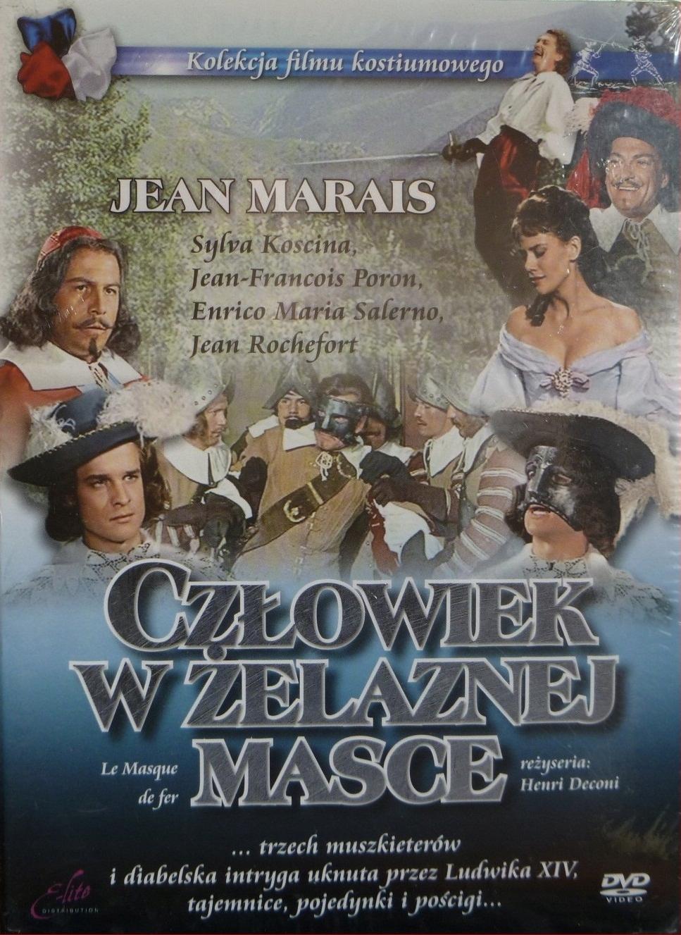 CZŁOWIEK W ŻELAZNEJ MASCE - DVD+KSIĄŻKA(KF)
