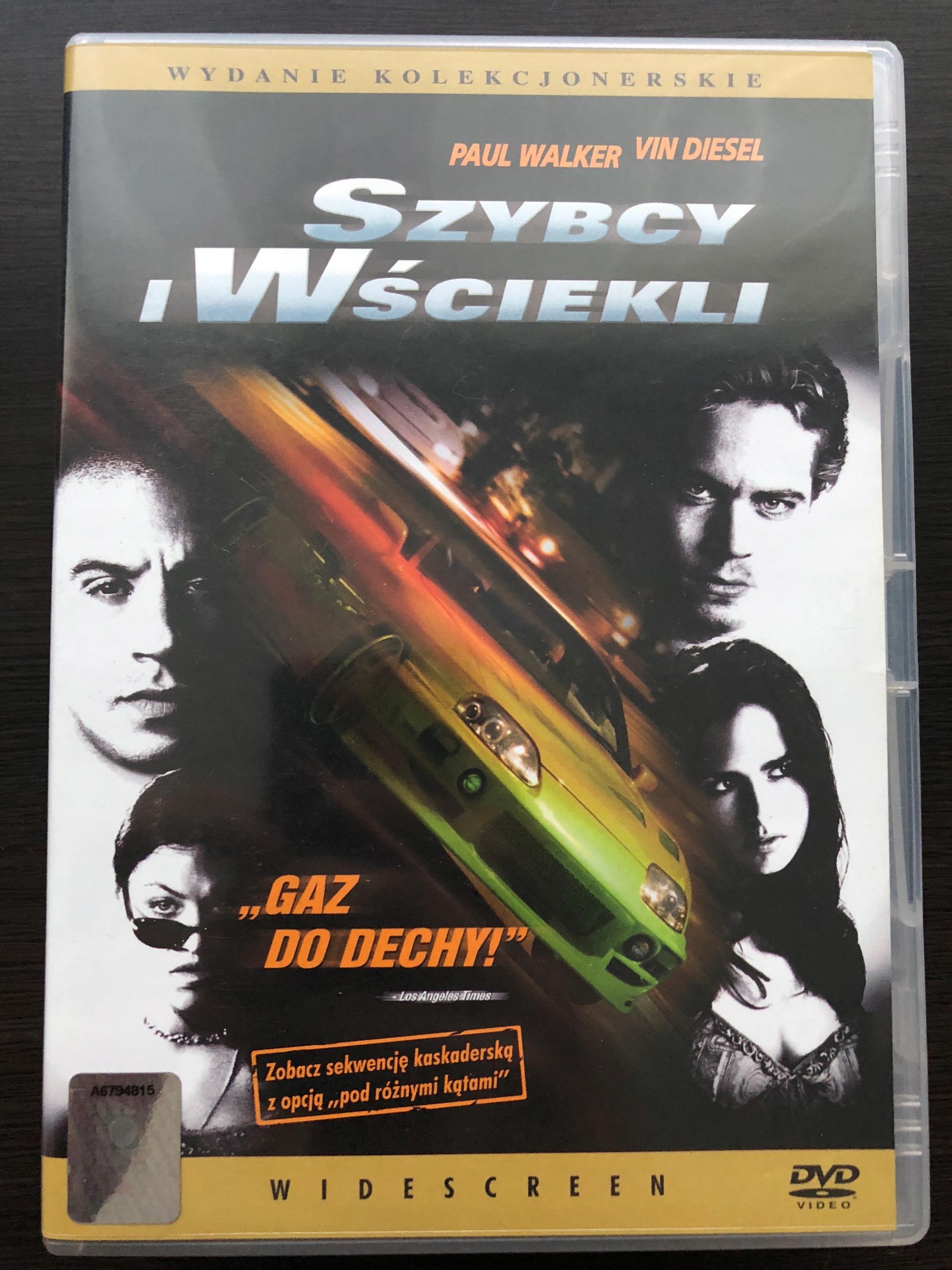 Szybcy i wściekli 1 DVD PL