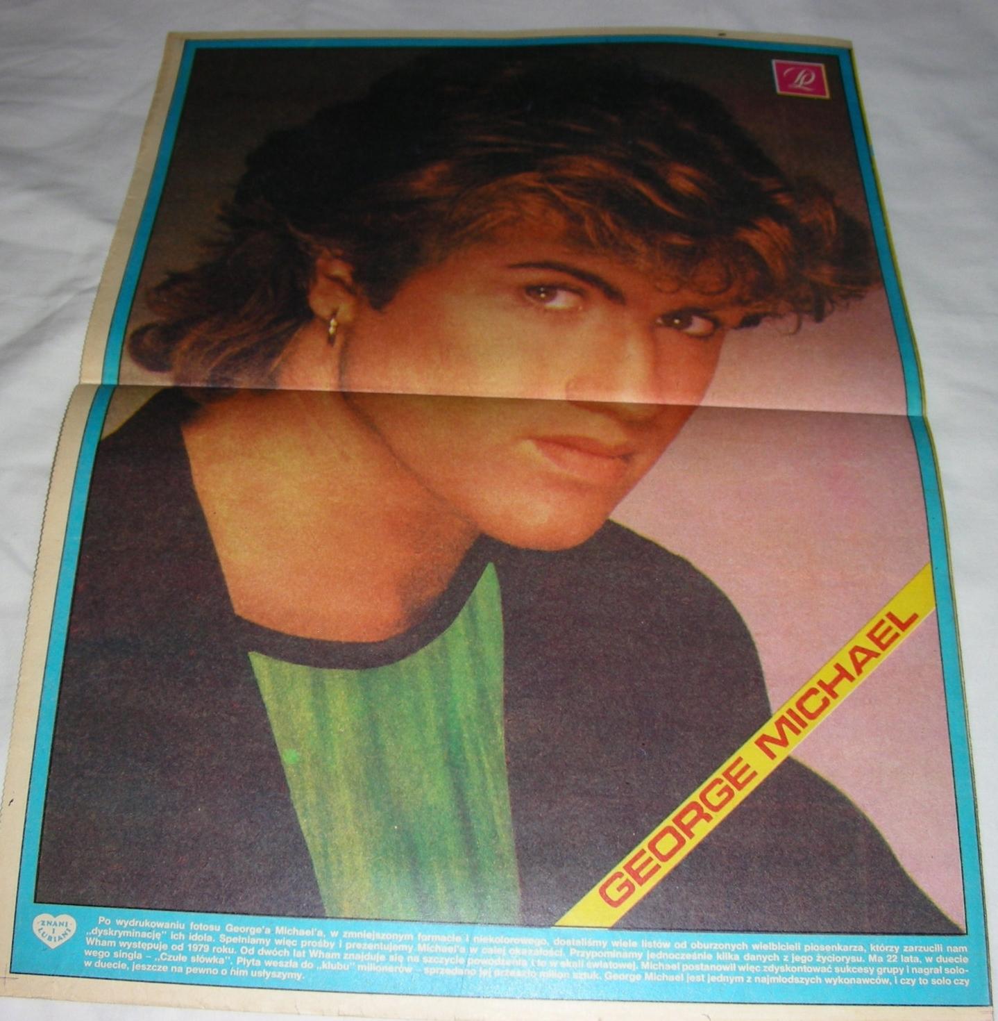 Dziennik Ludowy Dodatek Plakat George Michael
