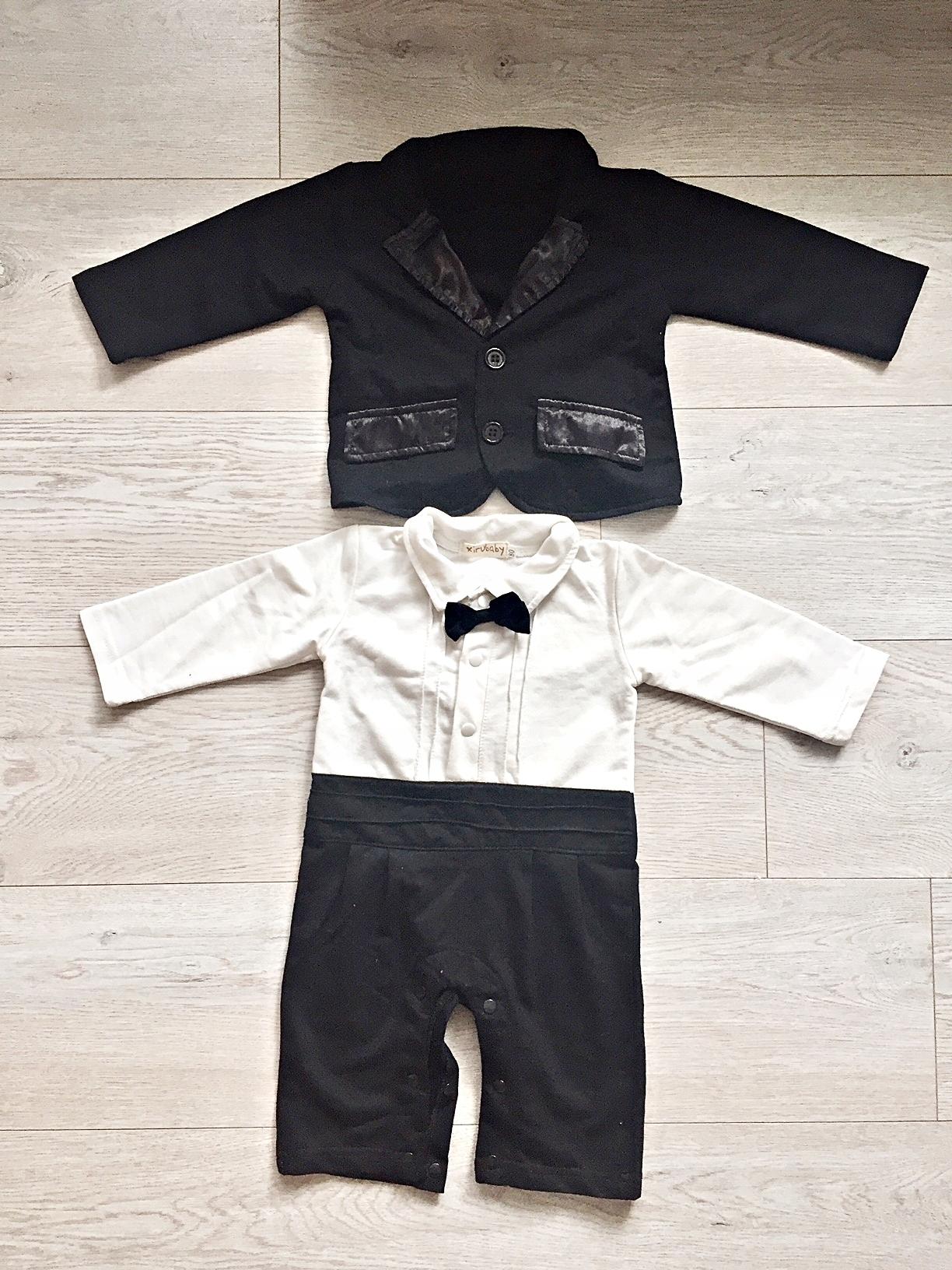 315de7001933d Garnitur niemowlęcy chrzest wesele 74 rampers - 7446842631 ...