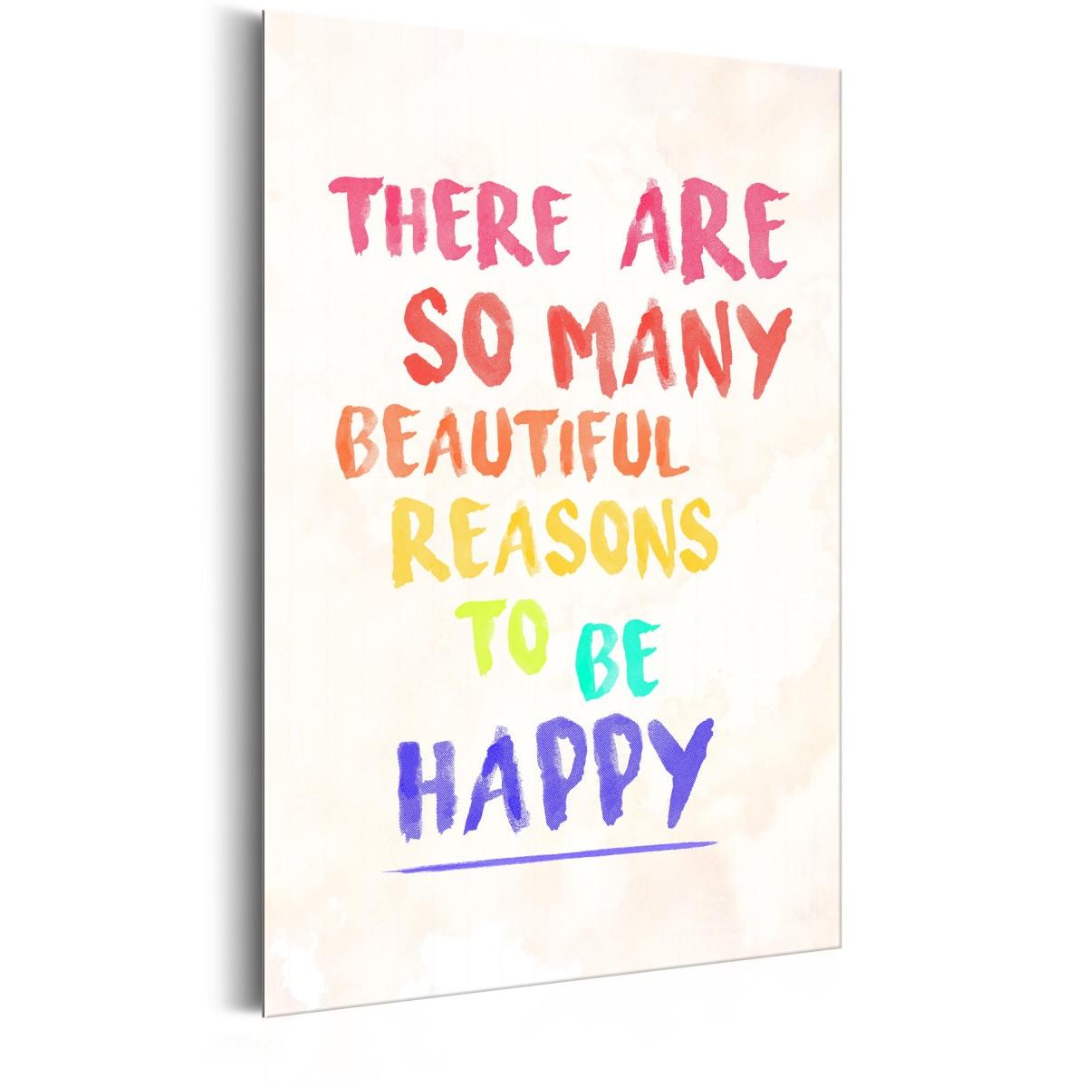 Plakat Metalowy Reasons To Be Happy Rozmiar 31