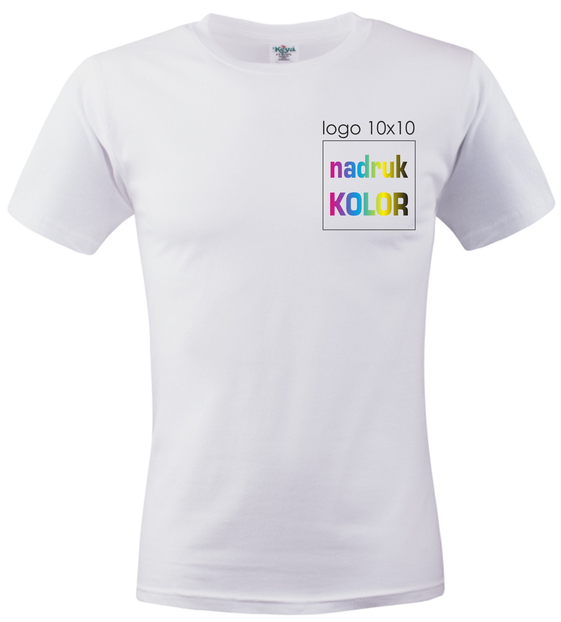 f0793c6d56f0 Koszulka biała z nadrukiem 10x10 DTG PREMIUM - 6870840849 ...