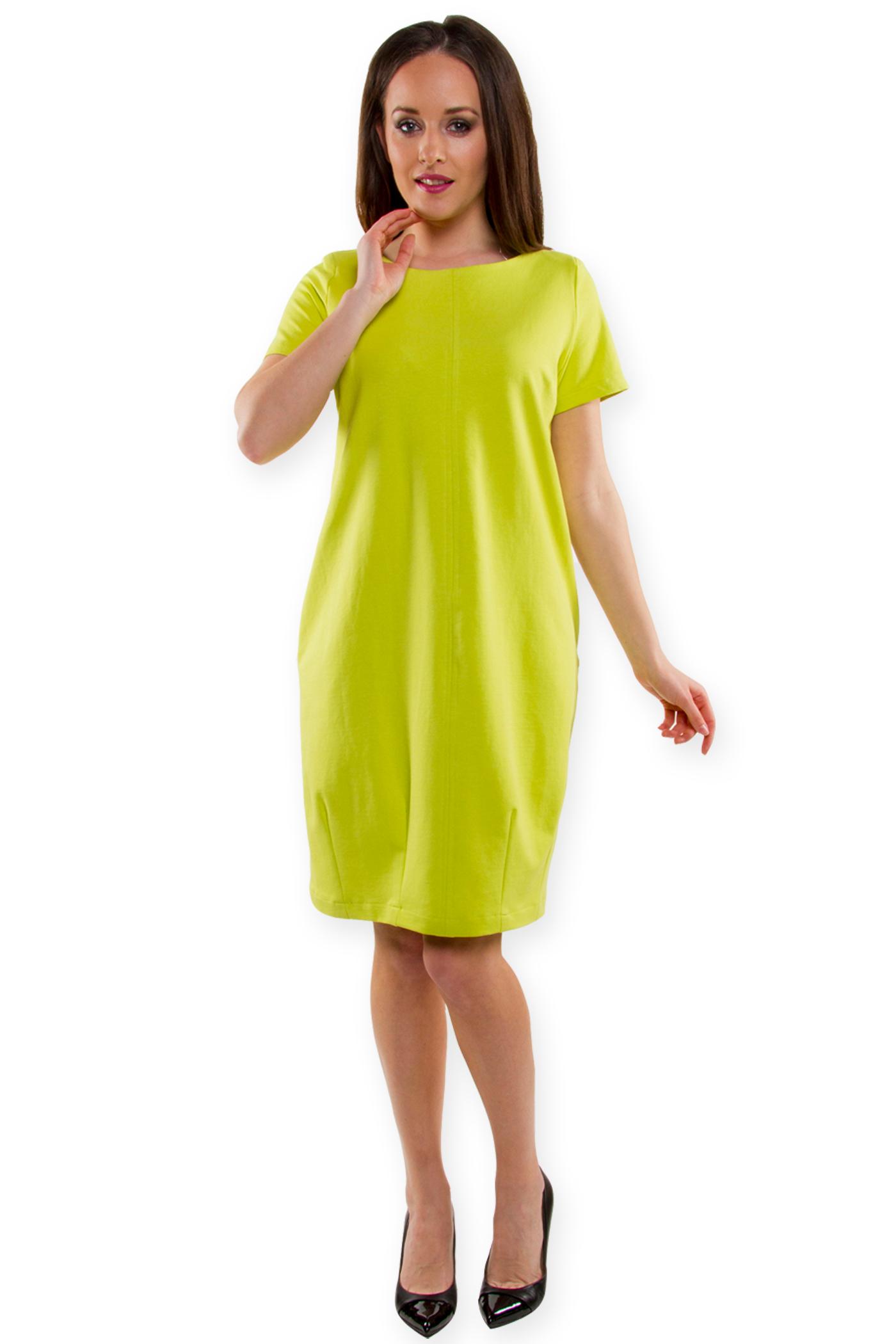 815bcc266f Sukienka tulipan Magda dzianina letnia limonka 42 - 6921584330 ...