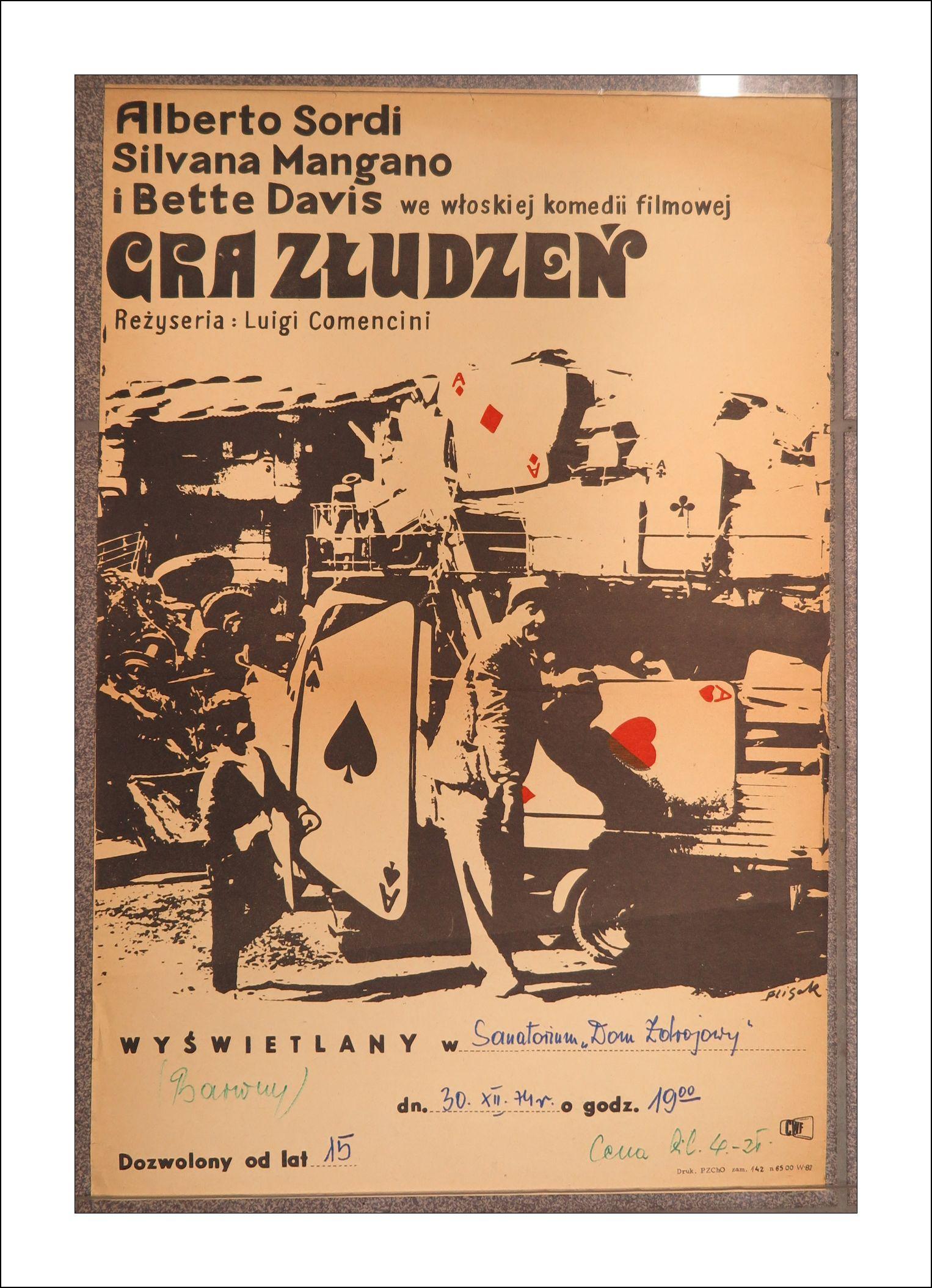 Stary Plakat Filmowy Gra Złudzeń