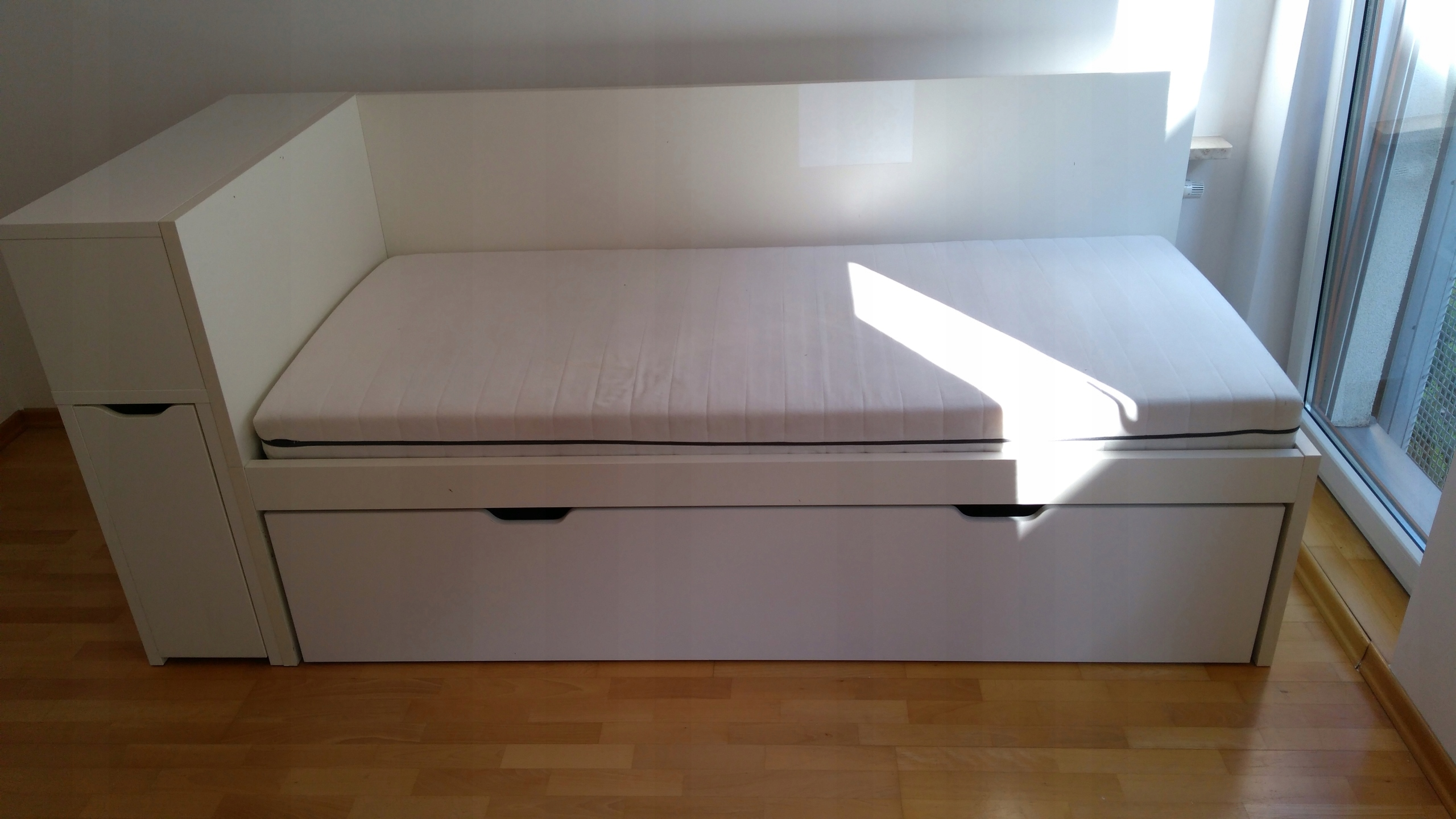łóżko Młodzieżowe Ikea Szuflada Zagłówek