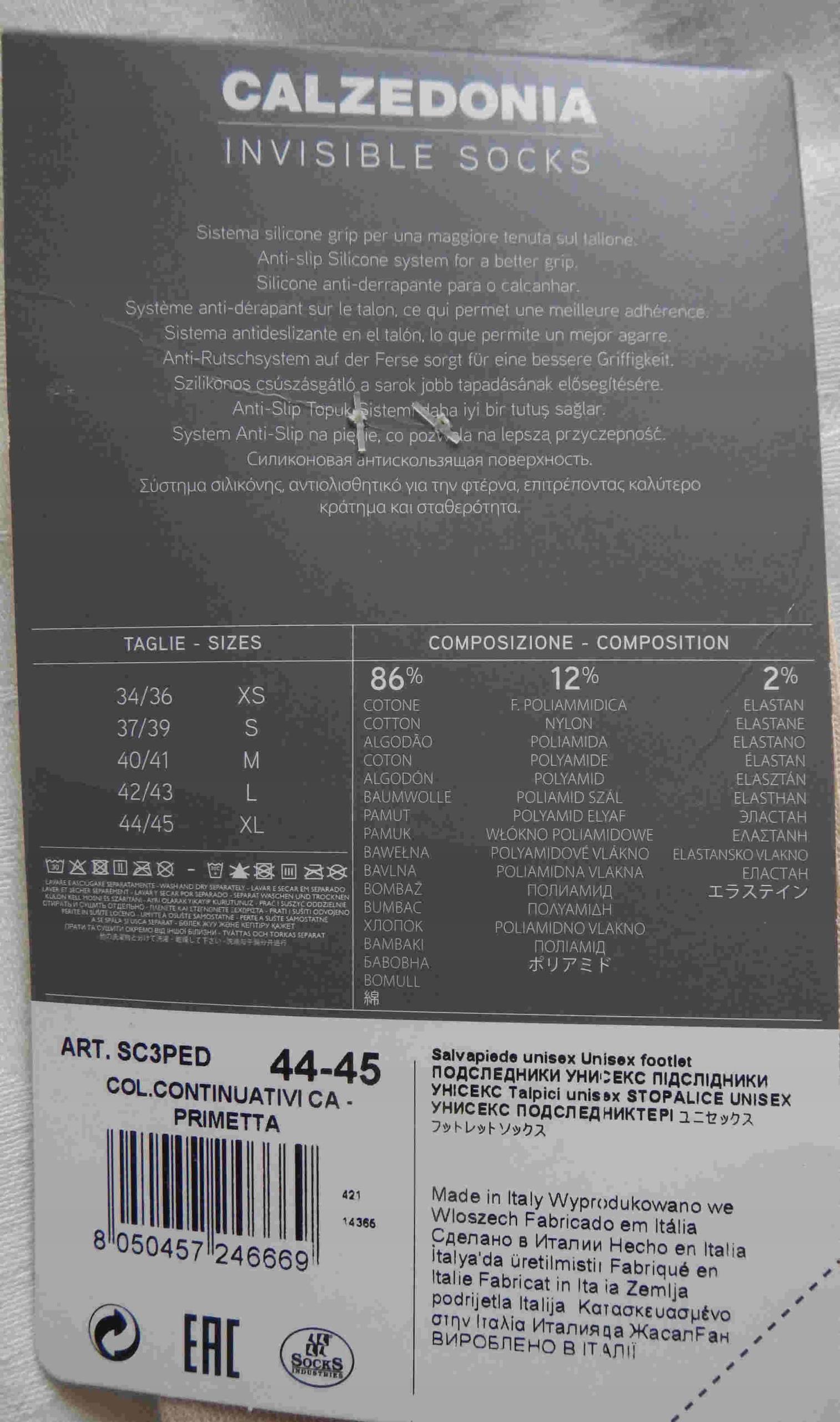 2c7becfb469f95 Niewidzialne skarpetki beż 44-45 Calzedonia - 7641787546 - oficjalne ...