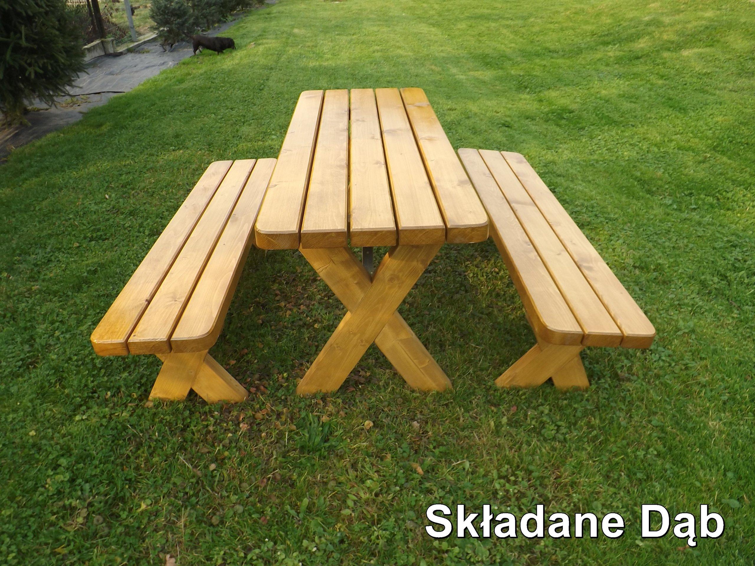 Meble Ogrodowe Z Drewna Drewniane Składane Promo
