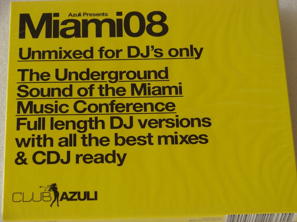 Miami 08 Unmixed For DJs only 2CD NOWA