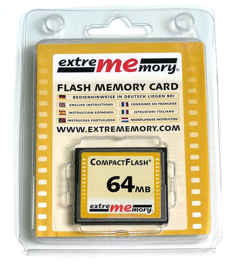 Karta Cf Compact Flash 64mb Extrememory Gwarancja 7432921222