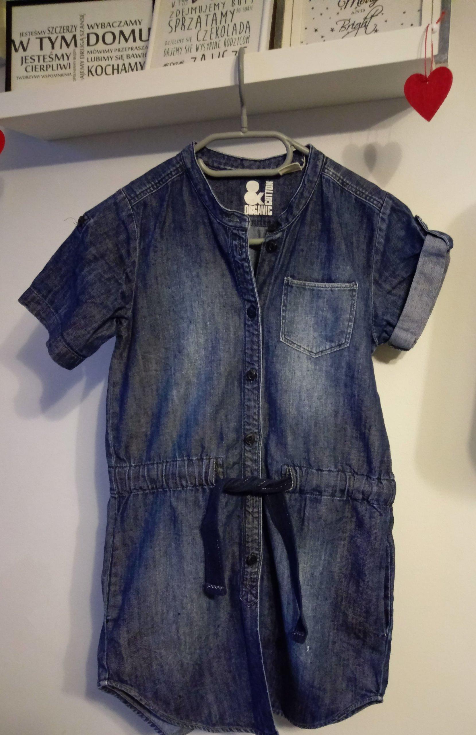 bd8b6914d1 H m sukienka jeansowa 134 - 7283985058 - oficjalne archiwum allegro