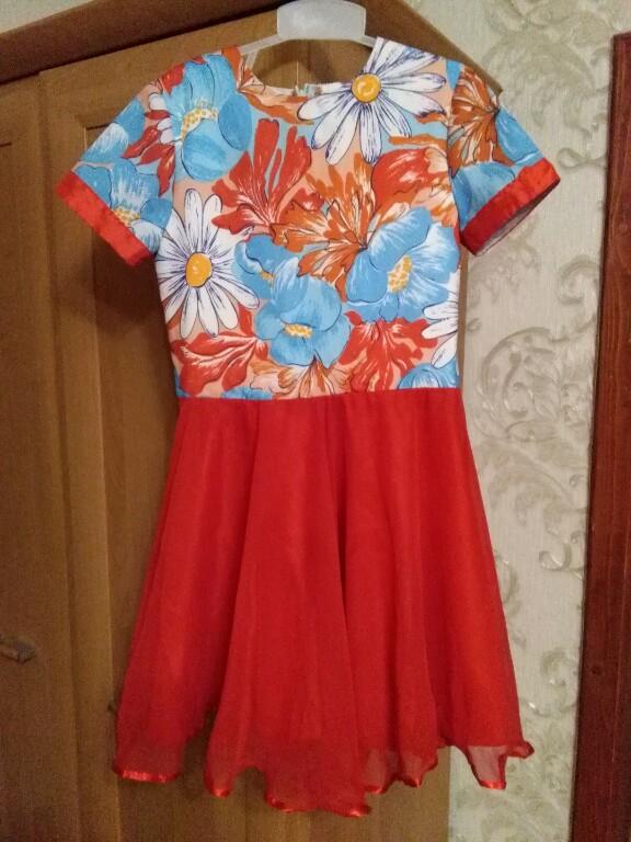 56c4936e87 Czerwona Sukienka Kwiaty 134 Komunia Ślub - 7292052194 - oficjalne ...