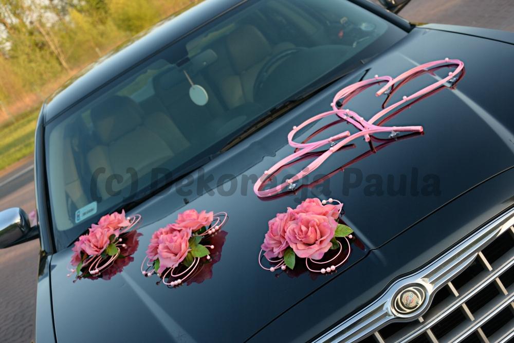 Paula Dekoracja Auta Samochodu Róże Serca Kolory 7311559635
